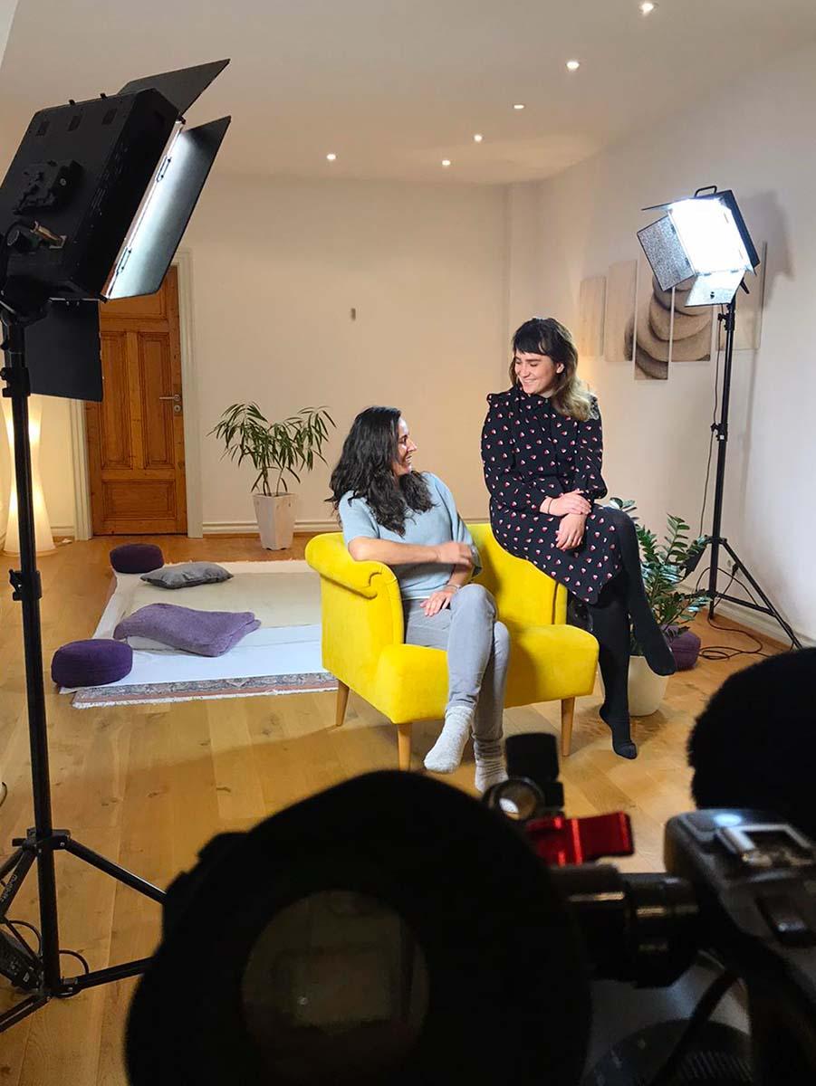Am Set mit Sabine Bleif
